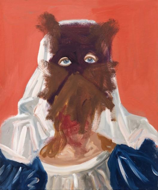 "George Condo, ""Cat Faced Nun"", acrylic and oil on canvas, 183 x 152 cm, 2010, © Sprüth Magers 乔治·康多,《猫面尼》,布面丙烯和油画,183 x 152 cm, © Sprüth Magers"