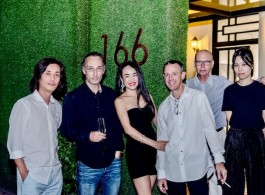 Shi Yong, Lorenz Helbling, Lingling and Andrew, Arthur Solway at opening of 166 Art Space
