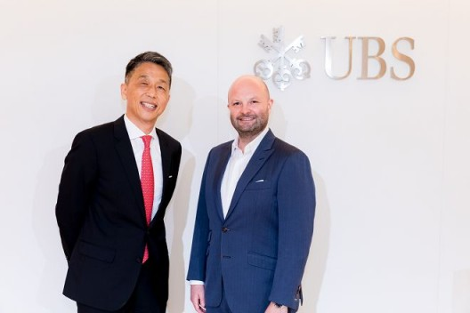 Dennis Chen, Country Head and Head of Wealth Management, UBS Taiwan (L) and  Magnus Renfrew, main organizer of Taipei Dangdai (R)