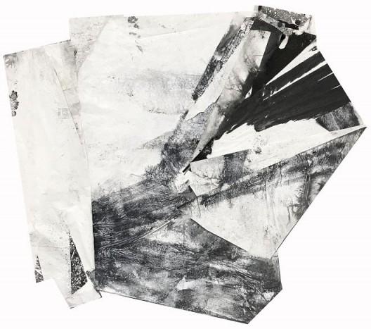 郑重宾,《移动的两极》,墨 丙烯 宣纸,190 x 175 cm,2018 Zheng Chongbin, Polarity Shift, Ink and acrylic on xuan paper, 190 x 175 cm, 2018