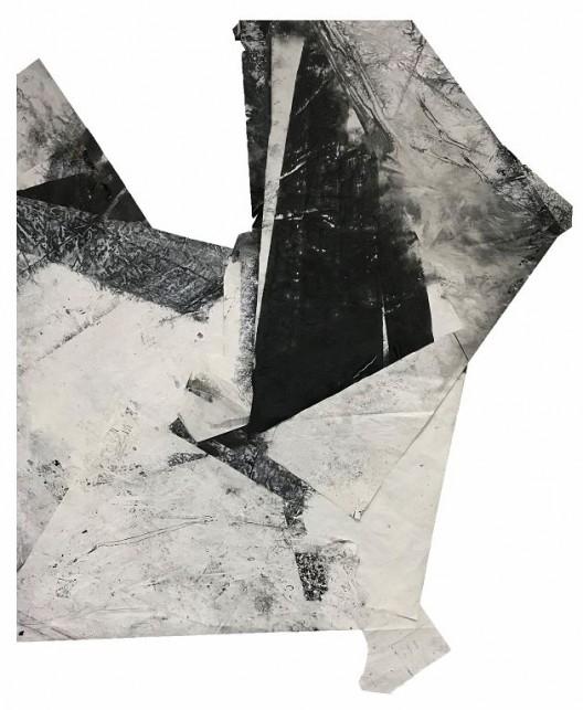 郑重宾,《行进中形态》,墨 丙烯 宣纸,170 x 141 cm,2018 Zheng Chongbin, Shape Over Time, Ink and acrylic on xuan paper, 170 x 141 cm, 2018