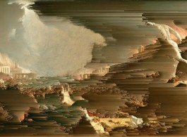The Course of Empire - Destruction (After Thomas Cole), 2016, Gordon Cheung, Giclee on Canvas, 100.3 x 161.3 cm