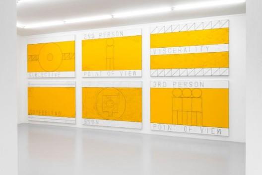 "Matt Mullican, ""The Feeling of Things"", exhibition making of, 2018. Courtesy of the artist and Pirelli HangarBicocca, Milan. Photo: Francesco Margaroli"