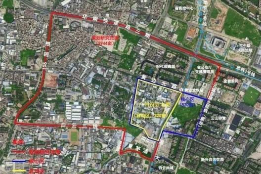 Diagram of the Design Capital of Guangzhou, from Baiyun Land Resources and Planning Bureau 广州设计之都项目规划设计范围示意图 图片来自白云区国规局发布