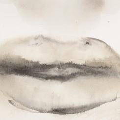 Marlene Dumas,  She speaks, 2015-2016 (detail) Ink wash and metallic acrylic on paper 11 7/8 x 9 1/4 inches  30 x 23.5 cm © Marlene Dumas