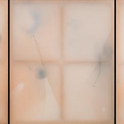 "Guo-Liang Tan, ""Peripheral Ritual I"", ""Peripheral Ritual II"", ""Peripheral Ritual III"", 2018, Acrylic on aeronautical fabric and wood, 163 x 408 cm.  陈国良, ""外周仪式 I"", ""外周仪式II"", ""外周仪式 III"", 2018, 木框和航空织物上丙烯, 163 x 408 cm"