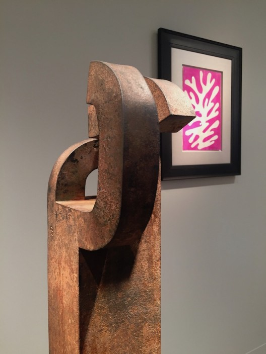 Eduardo Chillida and Matisse (image courtesy the artist and Lévy Gorvy, photo Chris Moore)