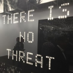 """Robert Longo """"Untitled (No Threat)"""" (detail) (image courtesy the artist and Metro Pictures, New York, photo Chris Moore)"""