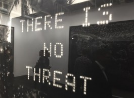 "Robert Longo ""Untitled (No Threat)"" (detail) (image courtesy the artist and Metro Pictures, New York, photo Chris Moore)"