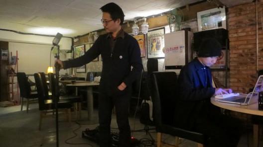 no performance (Zhu Wenbo, Sean Lee), at fRUITYSPACE. photo courtesy of Edward Sanderson