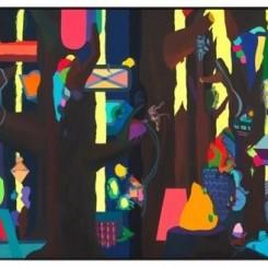 艾稞曼 ,《狂野森林 》,540 x 260 cm,布面油画,2012 Franz Ackermann, WILD FOREST, Oil on Canvas, 540x260cm, 2012