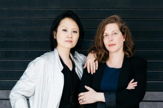 Forever & Today curators and writers Ingrid Pui Yee Chu (Hong Kong) and Savannah Gorton (Copenhagen/New York). Photo by Helga Traxler.