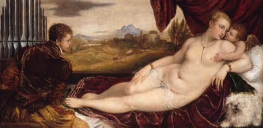 Titian: Venus with the organ player, 1550–1552 © Staatliche Museen zu Berlin, Gemäldegalerie / Jörg P. Anders提香,《维纳斯和管风琴演奏家》,1550–1552,© Staatliche Museen zu Berlin, Gemäldegalerie / Jörg P. Anders