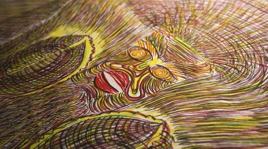 郭凤怡,《华胥氏》,彩墨宣纸,620×70cm,2006 Guo Fengyi, Huaxu Family, colored ink on rice paper, 620×70cm, 2006