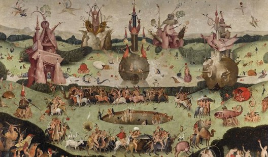 Contemporary follower of Hieronymus Bosch, The Garden of Earthly Delights, c. 1515 Private collection. Courtesy Nicholas Hall and David Zwirner.