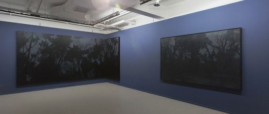 Pan Jian's works at the exhibition scene