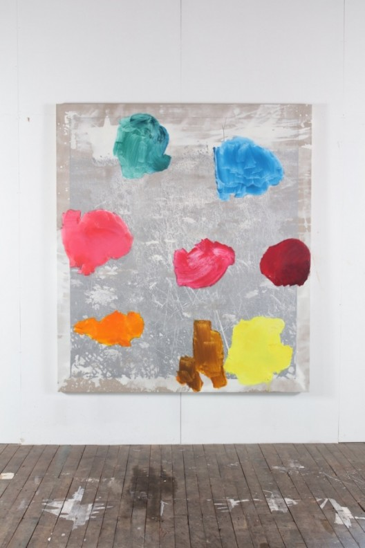 Ida Tursic & Wilfried Mille, 0T1A6012, 2018 - Oil on silkscreen on canvas - 215 x 190 x 5,5 cm; 84 5/8 x 74 3/4 x 2 1/8 inches / © Ida Tursic & Wilfried Mille - Courtesy of the Artist and Almine Rech Gallery