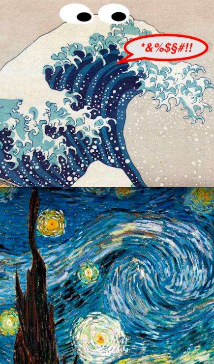 Hokusa Van Goch Cookie Monster Storm