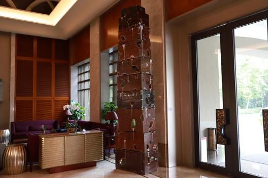 席华,《啮齿箱·塔》,2014,铂尔曼酒店展览现场