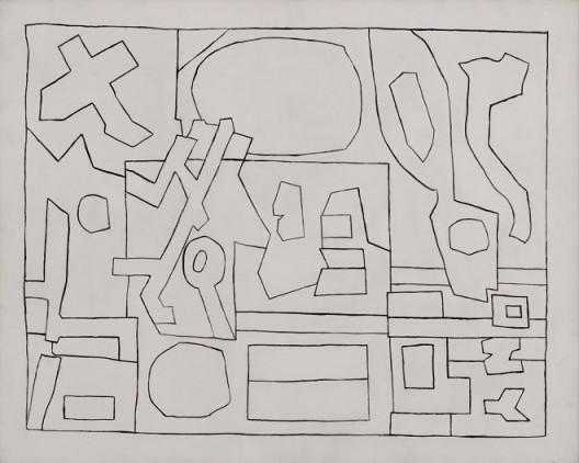 Image: Stuart Davis, (Letter and His Ecol. (Black and WhiteVersion)), 1962, casein on canvas, 24 x 30 inches, 61 x 76.2 cm. © Estate of StuartDavis/Licensed by VAGA, New York, NY