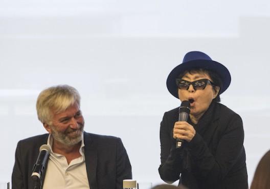 Yoko Ono Press Conference Beijing Nov 2015