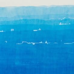 Melisma, Watercolor on Chan-Yi Xuan paper, 94 x 171 cm (37 x 67 1/4 in), 2018 《韵律》, 蝉翼宣、水彩, 94 x 171 cm