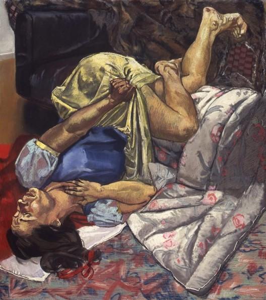 "Paula Rego, ""Snow White Swallows the Poisoned Apple"" , 1995. Pastel on board, 170 x 150 cm. 宝拉·雷戈,""白雪公主吞下毒苹果"",1995,木板上色粉,170 x 150 cm"