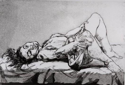 "Paula Rego, ""Untitled"" , 1999. Etching, 19.6 x 29.2 cm. 宝拉·雷戈,""无题"",1999,蚀刻,19.6 x 29.2 cm"