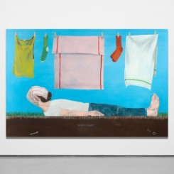 Michael Hilsman, 'M.' With Laundry, 2018 - Oil on linen - 96 x 64 inches ; 243,8 x 162,6 cm - Photo: Matt Kroening - Courtesy of the Artist and Almine Rech © Michael Hilsman