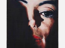 Sam McKinniss, Michael, 2018 - Oil over acrylic on canvas - 25,4 x 20,3 cm, 10 x 8 inches / © Sam McKinniss - Courtesy of the Artist and Almine Rech - Photo: Matt Kroening