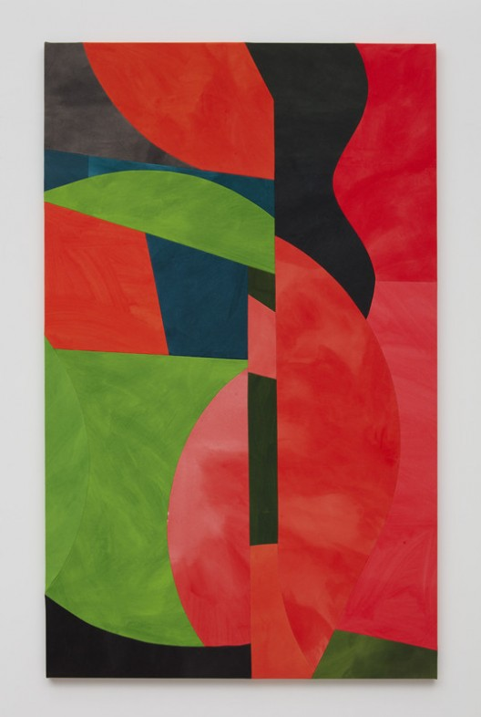 Sarah Crowner, Rotated Sunset, 2018, Acrylic on canvas, sewn, 213.4 x 132.1 cm (84 x 52 in), Courtesy the artist and Simon Lee Gallery
