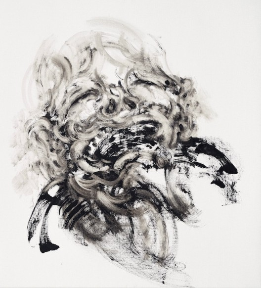 Maggi Hambling, Laughing 2, oil on canvas, 66 x 61 cm, 2018 笑 2, 2018 布面油画, 66 x 61 厘米 私人收藏 (image courtesy the artist and Marlborough Gallery)