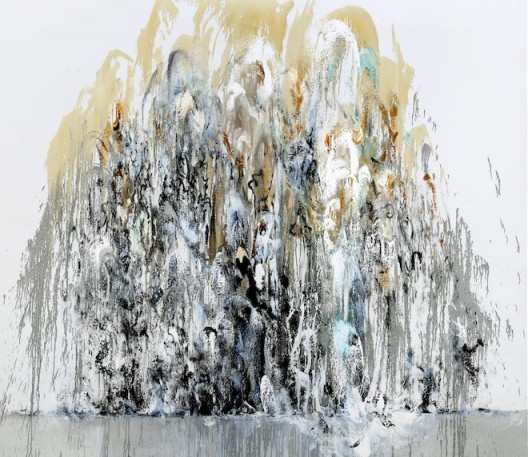 Maggi Hambling, Wall of water 1, oil on canvas, 198 x 226 cm, 2010 (image courtesy the artist and Marlborough Gallery)