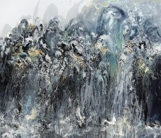 Maggi Hambling, Wall of water 5, oil on canvas, 198 x 226 cm, 2011 (image courtesy the artist and Marlborough Gallery)
