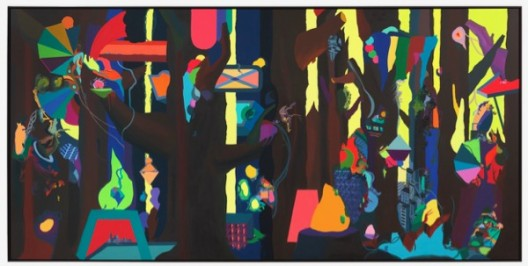 Franz ACKERMANN 弗兰兹·艾稞曼_Wild Forest 狂野森林_2014_Oil on canvas 布面油画_540 × 260cm