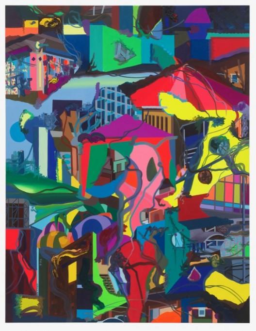 Franz Ackermann Zum großen Zelt, 2018_oil on canvas 布面油画_195 x 150 cm