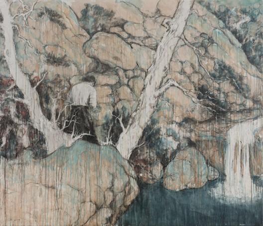 此山中 | Inside This Mountain 木板综合材料 | Mixed Media on Wood 180×210cm 2017