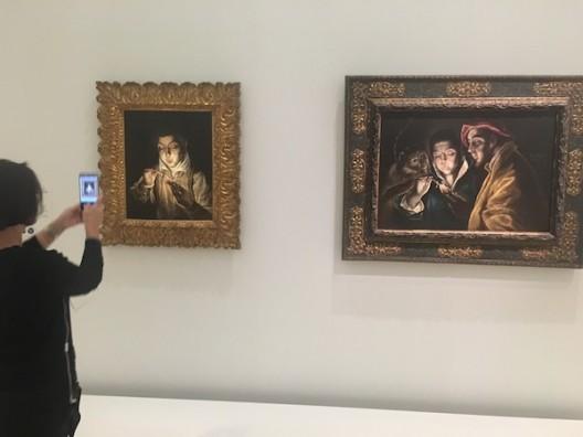 El Greco with phone WechatIMG1148