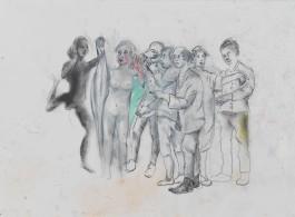 "马歇尔·雷斯,习作:日出, 纸上综合材料,29.5 × 42 cm,2016Martial Raysse,""étude pour: Le lever du jour"", mixed media on paper , 29.5 × 42 cm, 2016"