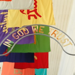 Fendry Ekel, In God We Trust (detail), 2020, (courtesy the artist and Honold Fine Art)