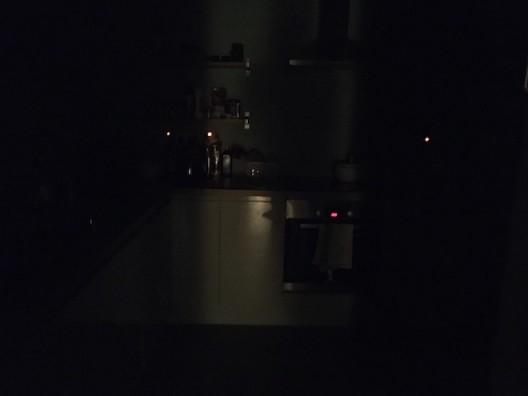 Kitchen at nightfall © Claire Kerr 2020