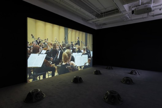 Samson Young, Muted Situations #22: Muted Tchaikovsky's 5th 2018 45 min. Courtesy of the artist Installation view, 2019. Image: Winnie Yeung @ iMAGE28 Courtesy of M+, Hong Kong