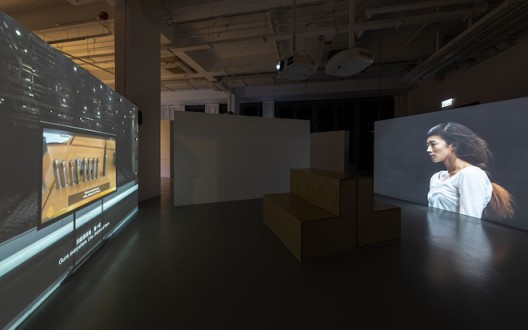 Shen Xin, Provocation of the Nightingale 2017 Four-channel video installation (colour, sound) 53 min. M+, Hong Kong. Gift of Wang Bing, 2018 Installation view, 2019. Image: Winnie Yeung @ iMAGE28 Courtesy of M+, Hong Kong