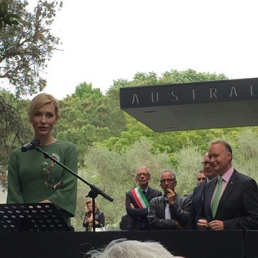 Cate Blanchett at the opening of the opening of the Australian Pavilion, Venice, May 2015