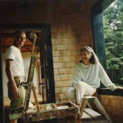 Ada and Alex Katz in Maine,1990 亚历克斯·卡茨与妻子艾达在缅因州,1990