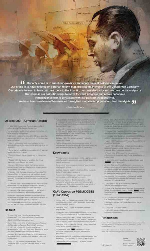 Tiffany Chung, Guatemala Agrarian Reform vs CIA Operation PBSUCCESS, 2019, digital print, 40 x 24 cm. Courtesy Tiffany Chung and Jorge L Hurtado.