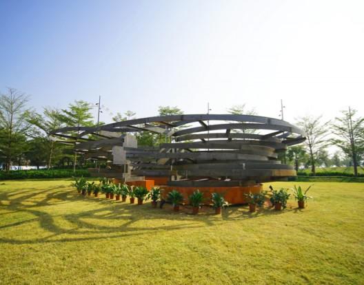 建筑师陈宣诚的作品《植变聚落》