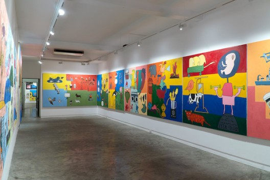 Installation view (third) floor) of Will Thurman 'Life Paintings, Volume 1: 2015-2020' (image courtesy the artist and Galerie Quyhn)