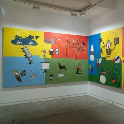 Installation view (third floor) of Will Thurman 'Life Paintings, Volume 1: 2015-2020' (image courtesy the artist and Galerie Quynh)